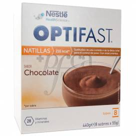 OPTIFAST NATILLAS DE CHOCOLATE 9 SAQUETAS