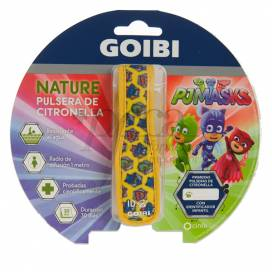 GOIBI CITRONELLA BRACELET NATURE PJMASKS 1 UNIT