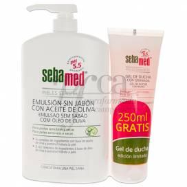 SEBAMED SOAP FREE EMULSION WITH OLIVE OIL 1L + HONEY PROMO