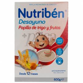 NUTRIBEN DESAYUNO PAPILLA TRIGO FRUTA 600 G