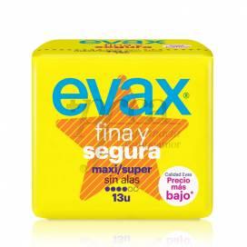 EVAX FINA Y SEGURA MAXI SUPER SIN ALAS 13 U