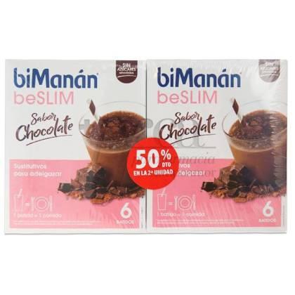 BIMANAN BESLIM BATIDO CHOCOLATE 2X6 UNIDADES PROMO