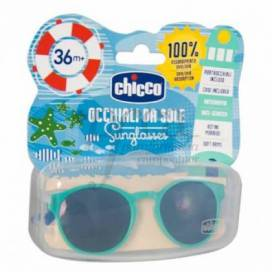 CHICCO GREEN AND BLUE SUNGLASSSES +36 MONTHS