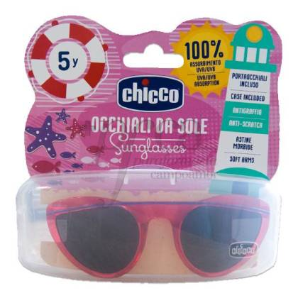CHICCO RED AND PINK WITH LILAC DETAIL SUNGLASSES +5 YEARS