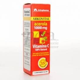 ARKOVITAL ACEROLA 1000 15 CHEWABLE TABLETS