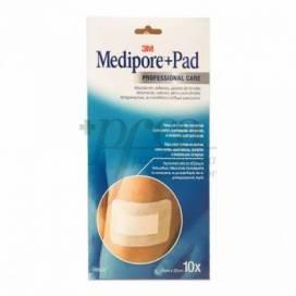 MEDIPORE PAD DRESSING 10X20 CM 10 UNITS