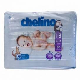 CHELINO LOVE FRALDAS TAMANHO 3 4-10KG 36 UNIDADES