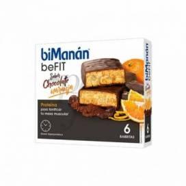 BIMANAN BEFIT BARRITAS CHOCOLATE NARANJA 6 UDS