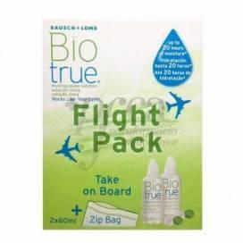BIOTRUE SOLUÇÃO PARA LENTES DE CONTATO FLIGHT PACK 2X60 ML PROMO