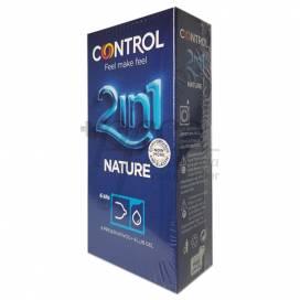CONTROL NATURE 2EN1 PRESERVATIVO + GEL 6 UNIDADES
