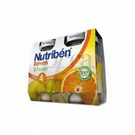 NUTRIBEN ZUMO DE 3 FRUTAS 2X130 ML
