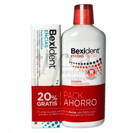 BEXIDENT ENCIAS COLUTORIO CLORHEXIDINA 0.12% 500ML+ENCIAS PASTA 75 ML PROMO