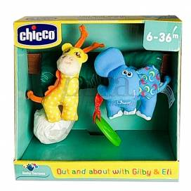 CHICCO OUT AND ABOUT WITH GILBY AND ELI 6-36 M