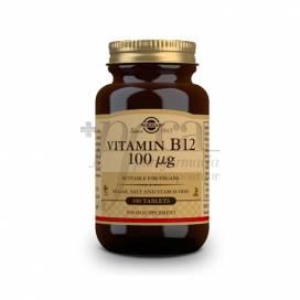 VITAMINA B12 100MCG 100 COMPS SOLGAR