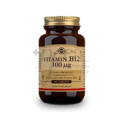 VITAMINA B12 100MCG 100 COMPRIMIDOS SOLGAR