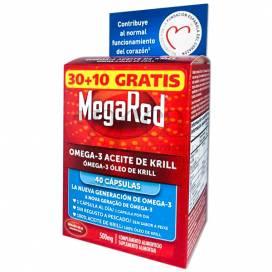 MEGARED OMEGA 3 ÓLEO DE KRILL 30+10 CÁPSULAS PROMO