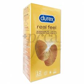 DUREX PRESERVATIVOS REAL FEEL SIN LATEX 12 UDS