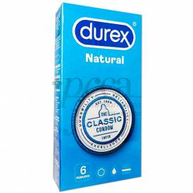 DUREX PRESERVATIVOS NATURAL PLUS 6 UDS