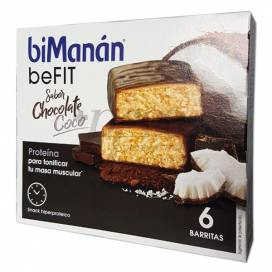BIMANAN PRO BARRINHAS DE CHOCOLATE COCO 6 UNIDADES