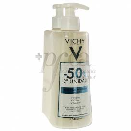VICHY LECHE MICELAR MINERAL PIEL SECA 2X400 ML PROMO