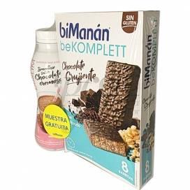 BIMANAN BEKOMPLETT 8 BARRITAS CHOCOLATE + BATIDO 330 ML PROMO
