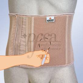 ORLIMAN ABDOMINAL SUPPORT FOR OSTOMY PATIENTS WITHOUT ORIFICE SIZE 6 24 CM COL240