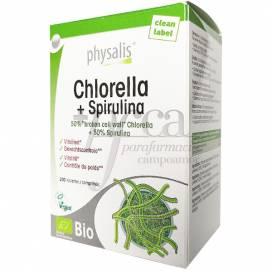 CHLORELLA Y SPIRULINA BIO 200 COMPS PHYSALIS