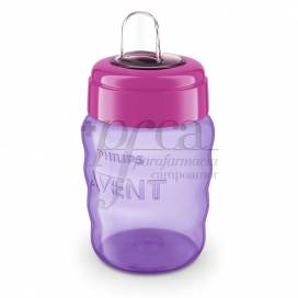 AVENT CUP WITH SOFT NOZZLE PINK 260 ML