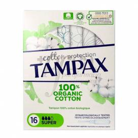 TAMPAX ABSORVENTES NATURAL SUPER 16 UNIDADES