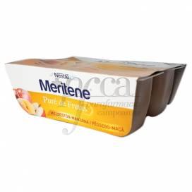 MERITENE PURE MELOCOTON Y MANZANA 4 X 100 G