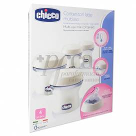 CHICCO NATURAL FEEL CONTENEDORES PARA LECHE 4 UDS