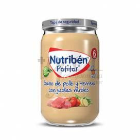 NUTRIBEN GUISO DE POLLO Y TERNERA CON JUDIAS 235 G