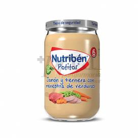 NUTRIBEN JAMON TERNERA MENESTRA DE VERDURAS 235 G