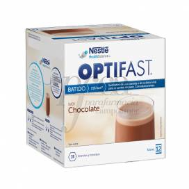 OPTIFAST BATIDO DE CHOCOLATE 12 SAQUETAS