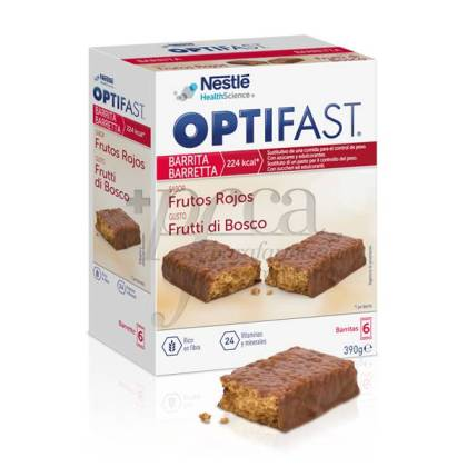 OPTIFAST BARRITAS FRUTAS DEL BOSQUE 6 UDS
