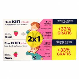 FLUOR KIN ANTI-CARIES TOOTHPASTE FOR KIDS 2X1 PROMO