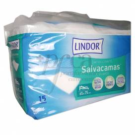 LINDOR SALVACAMAS 60X75CM 15 UNIDADES