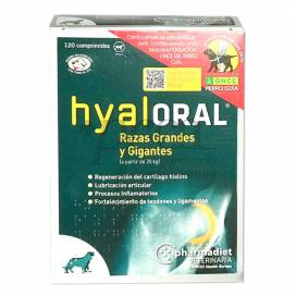HYALORAL CACHORROS GRANDES +20 KG 120 COMPRIMIDOS