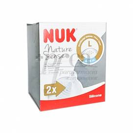 NUK SILICONA ANTICOLIC TEAT NATURE SENSE 2L 2 UNITS