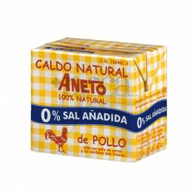 ANETO CHICKEN BROTH 0% SALT 500 ML