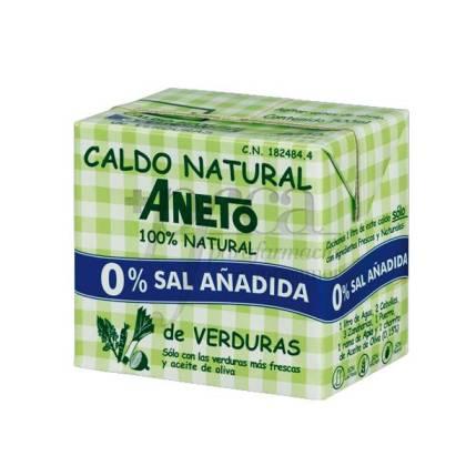ANETO CALDO NATURAL DE VERDURAS 0% SAL 500 ML