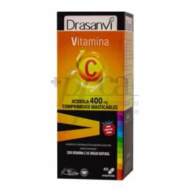 VITAMIN C 400 MG 60 KAUBAR TABLETTEN DRASANVI