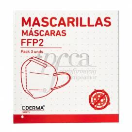 DDERMA FFP2 FACE MASK 3 UNITS R.8200455