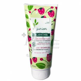 KLORANE JUNIOR GEL DE DUCHA FRAMBUESA 200 ML