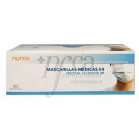 MÁSCARA CIRÚRGICA IIR 3 CAMADAS 50 UNIDADES NURSIA