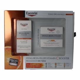 EUCERIN HYALURON-FILLER BOOSTER VIT C 8 ML + CREME SPF30 50 ML PROMO