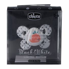 CHICCO PACIFIER LIMITED EDITION BLACK&WHITE 0-6M