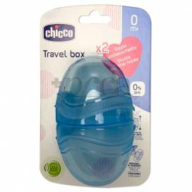 CHICCO DOUBLE PACIFIER CASE BLUE