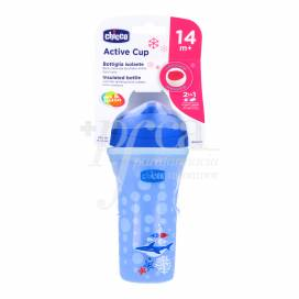 CHICCO ACTIVE CUP AZUL 14M+ 266ML