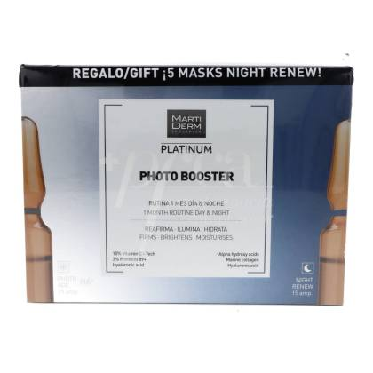 MARTIDERM PHOTO BOOSTER DAY AND NIGHT + 5 FACE MASKS RENEW PROMO